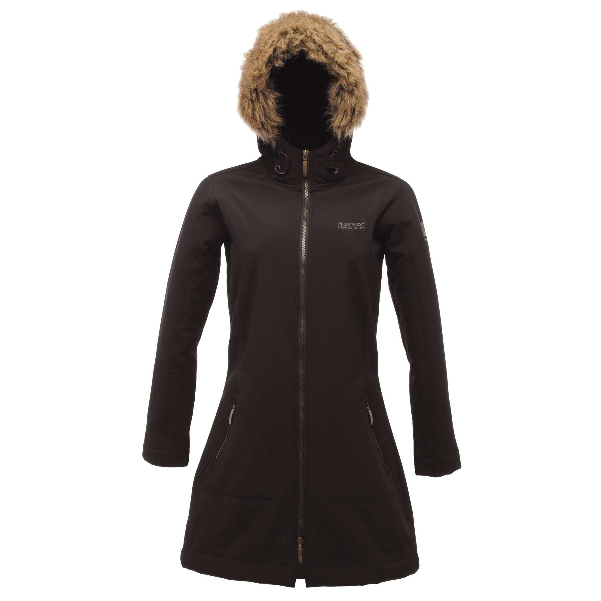 regatta autumn softshell mantel f r damen mit pelzkragen kaufen bei renner. Black Bedroom Furniture Sets. Home Design Ideas