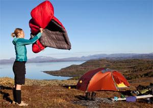 Schlafsack f�r Camping-Urlaube