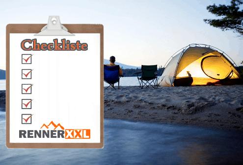 Renner XXL Checkliste zum Camping