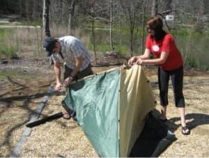 Zelt aufstellen