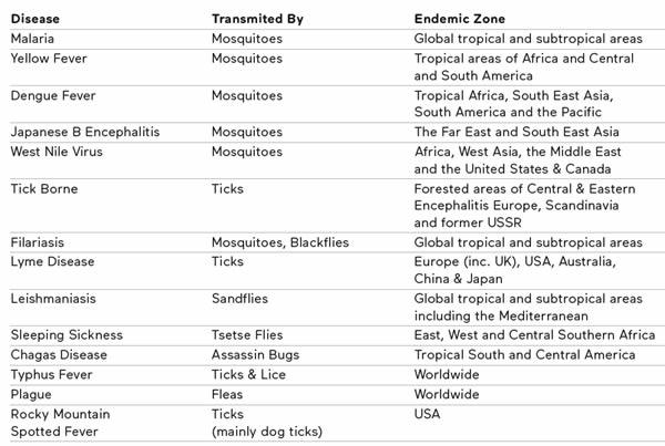 Verbreitung , Krankheiten und Arten der Insekten