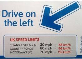 Linksverkehr - Autofahren in England