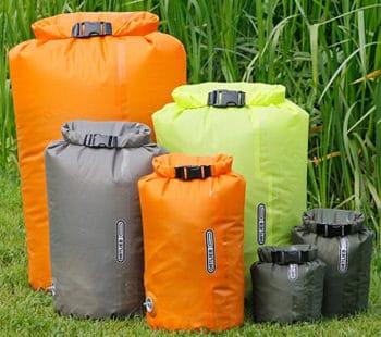 Wasserdichte Säcke von Ortlieb gelten als der Inbegriff eines guten Packsacks