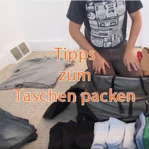 7 Tipps zujm Taschen packen