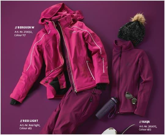 Klassische Skibekleidung