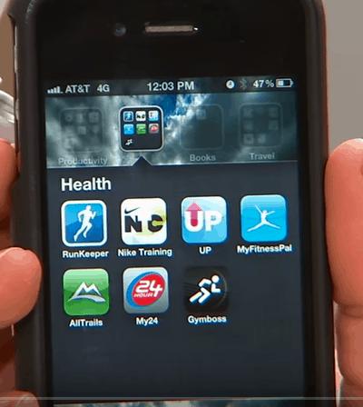 Smartphone mit Run Apps