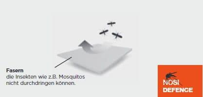 Effektive Barriere gegen beißende Insekten
