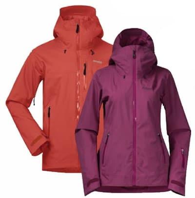 Die Jacken Stranda 2L Jacket, Oppdal 2L und Myrkddalen von Bergans of Norway