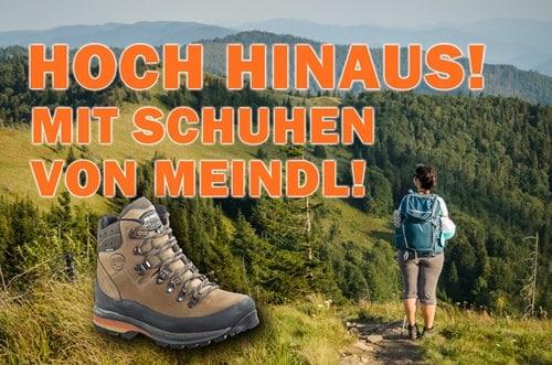 Hoch hinaus mit Wanderschuhen von Meindl