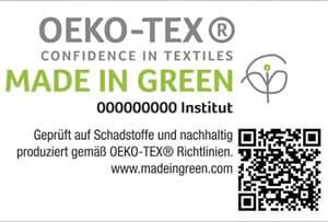 Siegel mit QR Code Made in Green
