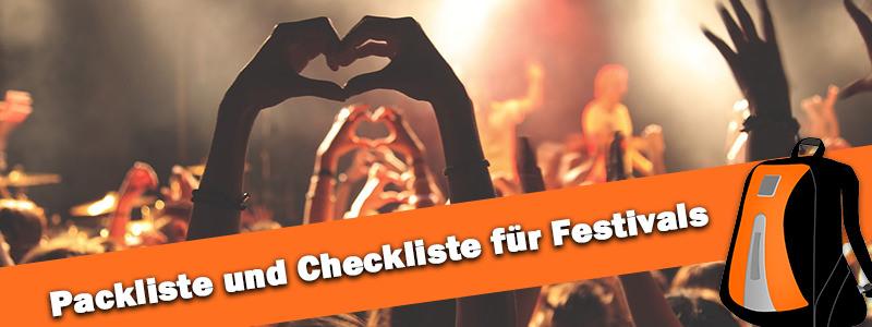 Packliste Festival