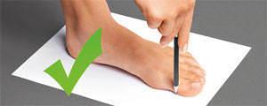 Bestimmung der Fußlänge