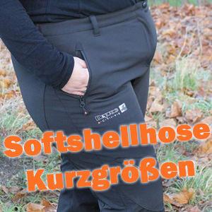 Kurzgröße Softshellhose