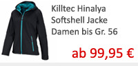 Killtec hinayla softshell mantel damen in �bergr��en