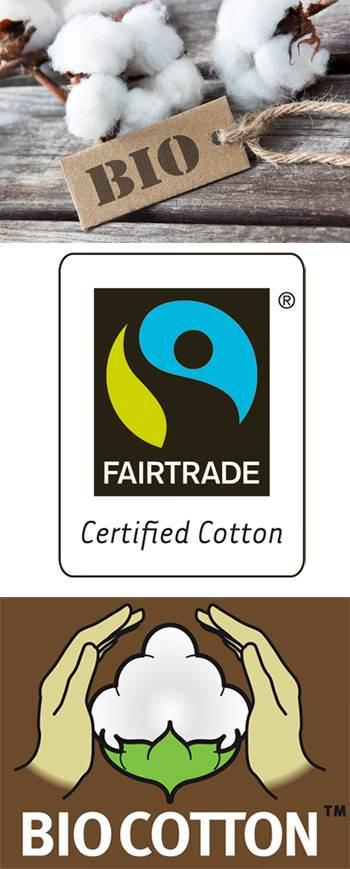 Symbole für Bio Baumwolle