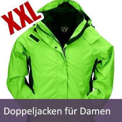 XXL Damen Doppeljacken | Gr. 48 - 50 - 52 - 54