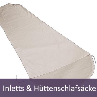 Hüttenschlafsäcke & Inlett