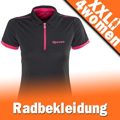 XXL Radbekleidung für Damen - Übergrößen Fahrradbekleidung Gr. 48 - 50 - 52 - 54