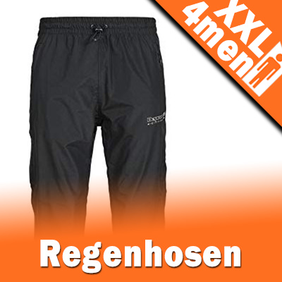 Herren Regenhose in XXL Übergrößen - Wasserdicht & Qualitativ