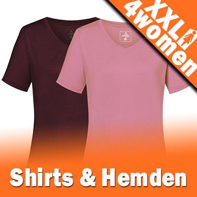 XXL Damen Hemden für Trekking und Wandern - Große Größen