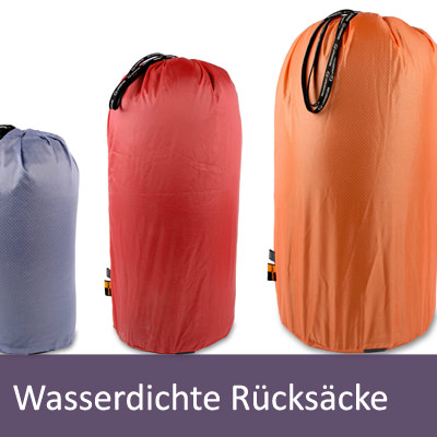 Wasserdichte Packsäcke und Rucksäcke
