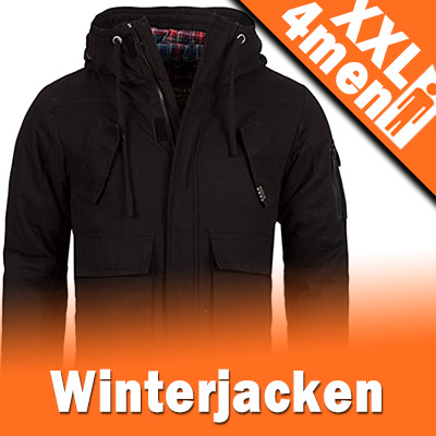 XXL Herren Winterjacken in großen Größen XXXL - 8XL