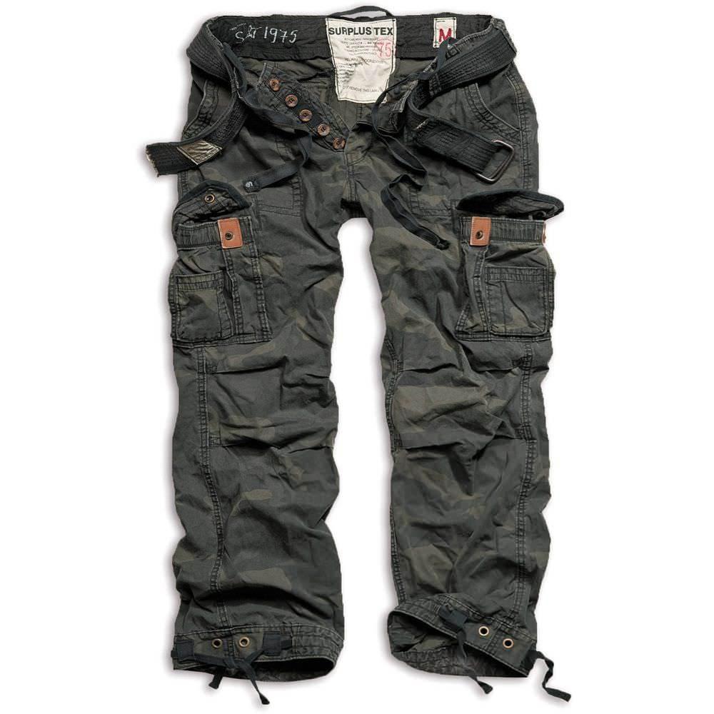 Surplus Premium Vintage Outdoorhose in Übergröße black/camo | 3XL