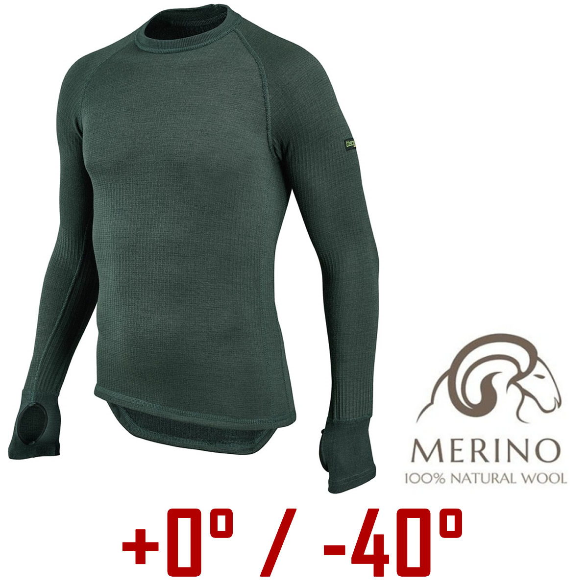 Thermo Function Thermo-Unterhemd Herren oliv | XXL