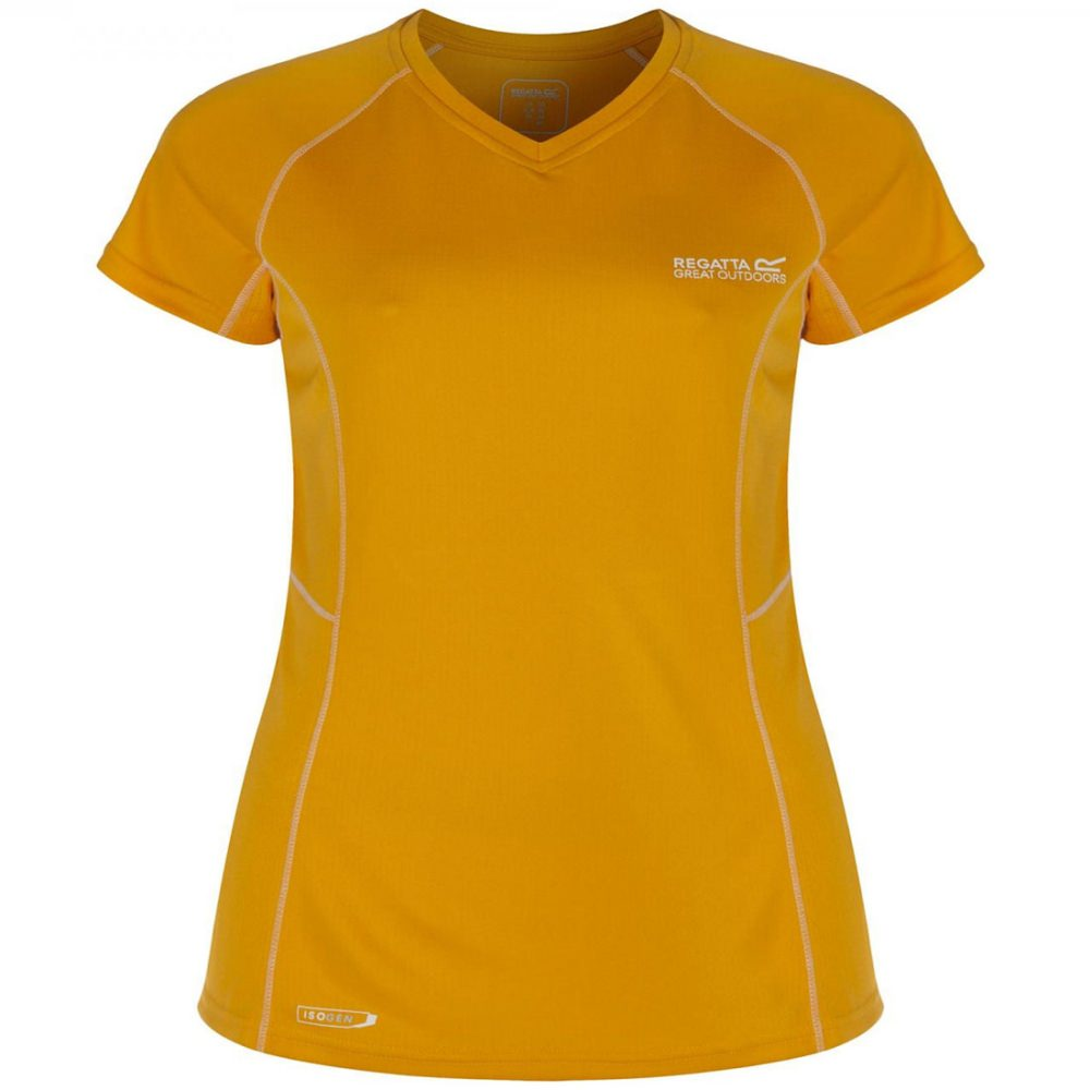 Regatta Jenolan Damenshirt Gelb | 52