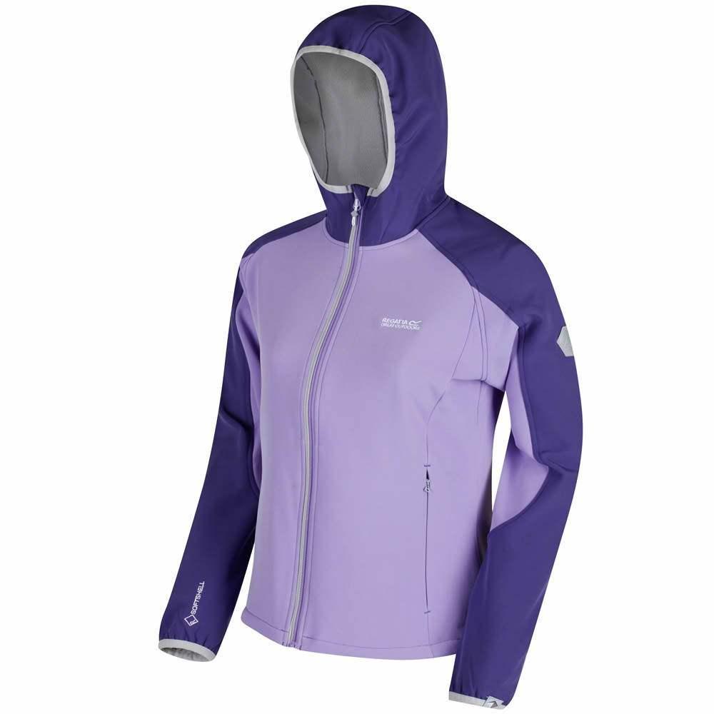 Regatta ARKA Softshell Jacke mit Kapuze Damen | Alle Größen Violet | 50