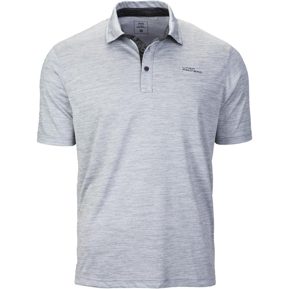 Linea Primero Samson Herren Shirt Funktionspolo Poloshirt Grau | 6XL