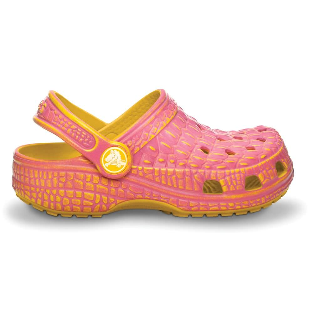 Everything the little ones love about their first pairs of Crocs is here in a cute and cozy slipper style. With no laces or straps to fuss with, they're easy for Mom and Dad to slip on and off, and simple enough for kids to learn how to do it themselves.