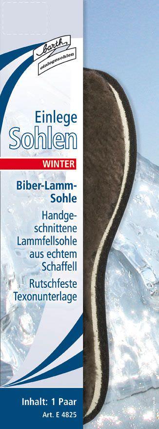 Barth Biberlamm-Sohle / Einlegesohle Winter