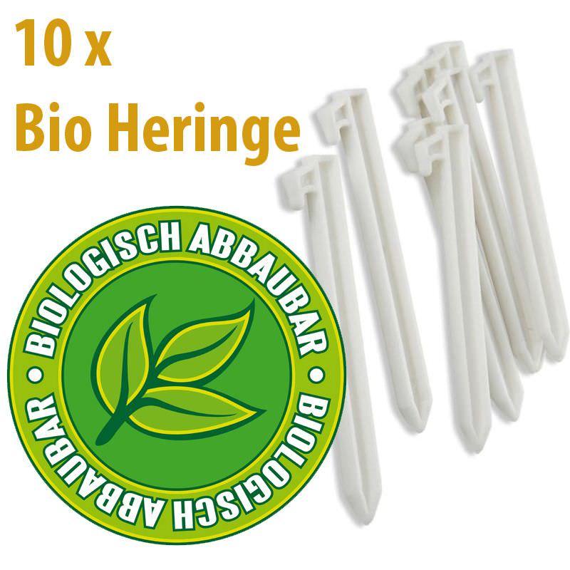 Gelert Bio-Heringe - Vollkommen biologisch abbaubar 10 Stück