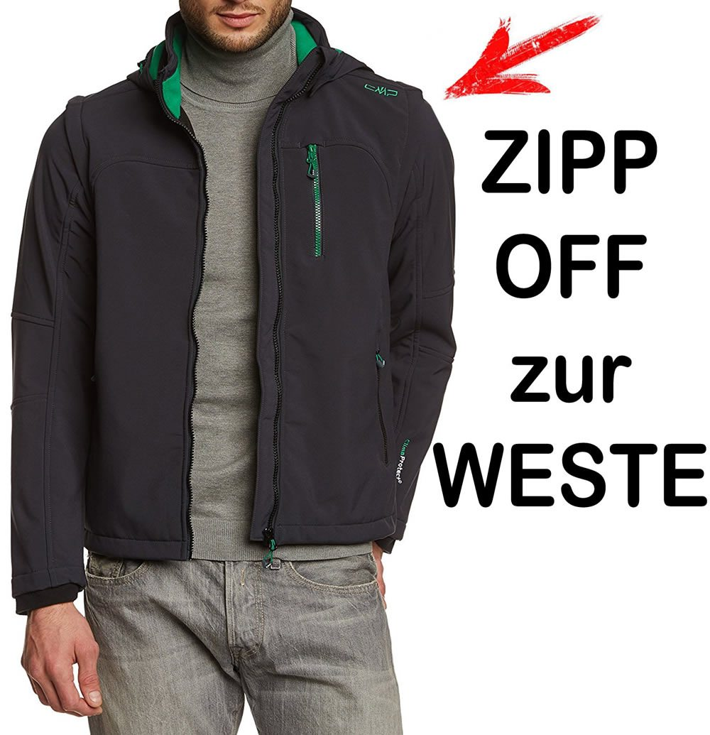 Campagnolo Rock Sill - Soft-Shell Jacke + ZIP-OFF ÄRMEL