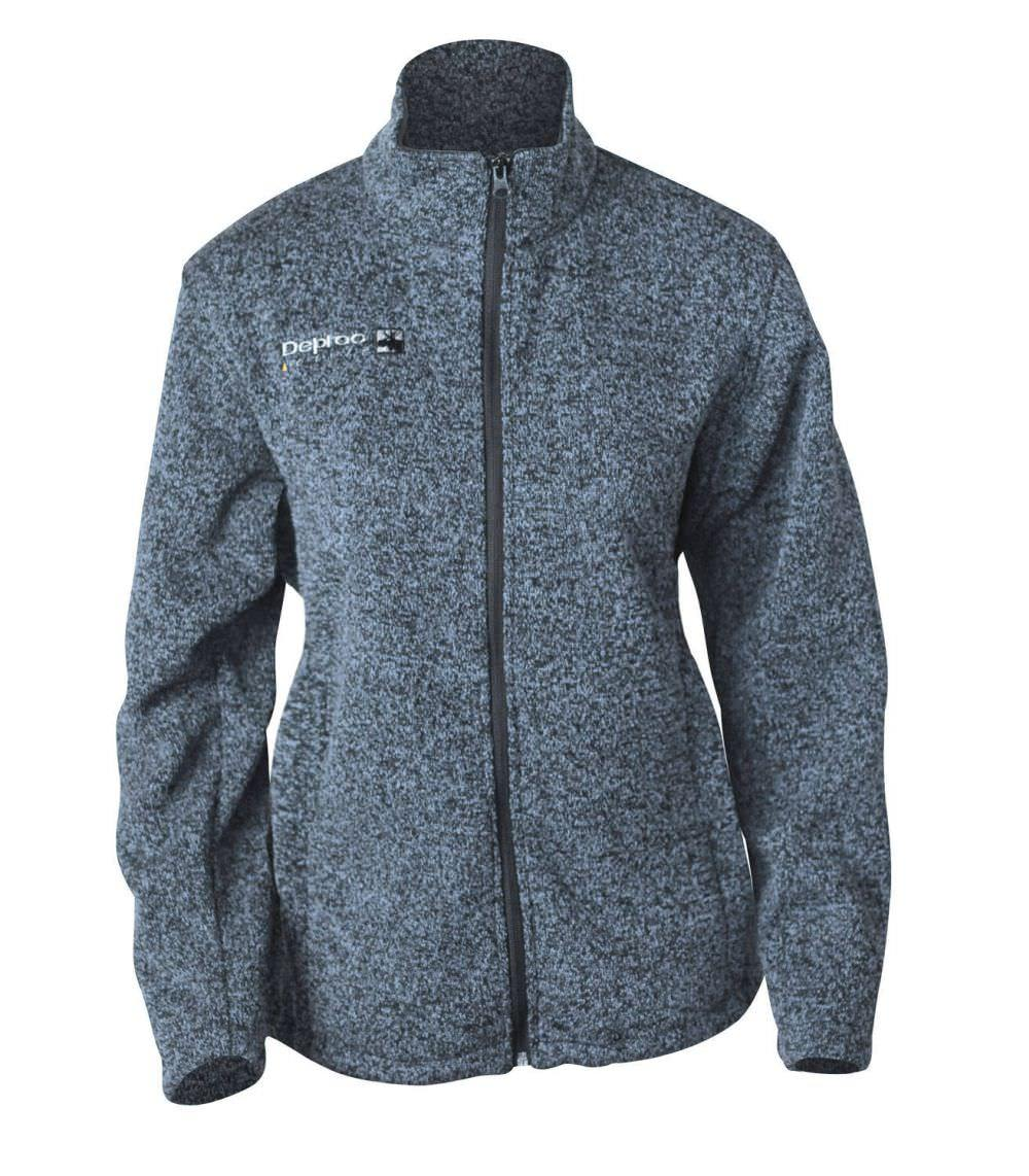 Damen Fleecejacke in Strick-Optik
