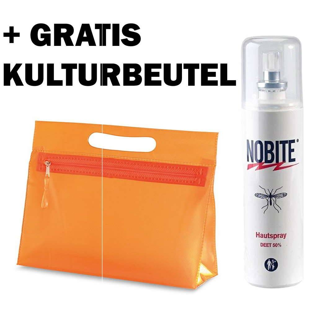 nobite anti m cken hautspray 100 ml gratis kulturbeutel. Black Bedroom Furniture Sets. Home Design Ideas
