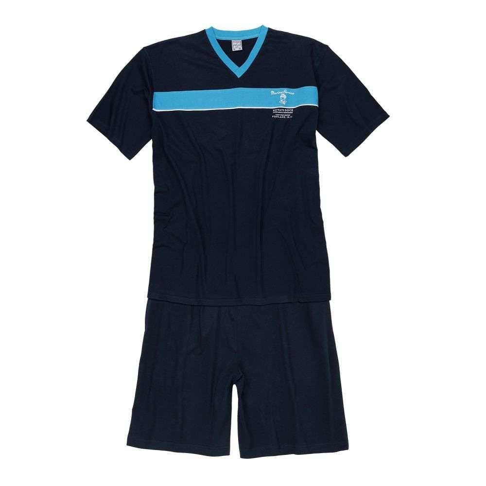 Adamo Mario kurzer Schlafanzug bis 9XL