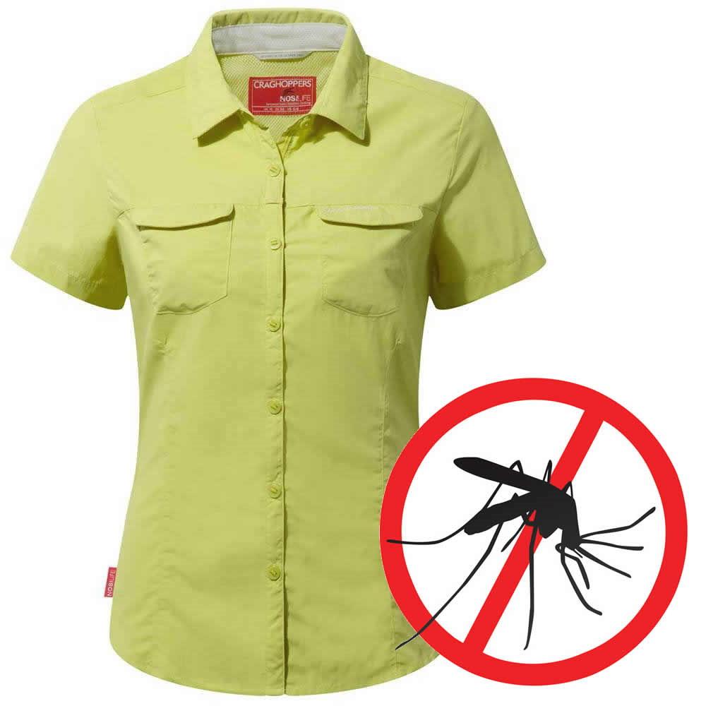 Craghoppers Damen Bluse Kurzarm - NosiLife Mückenschutz