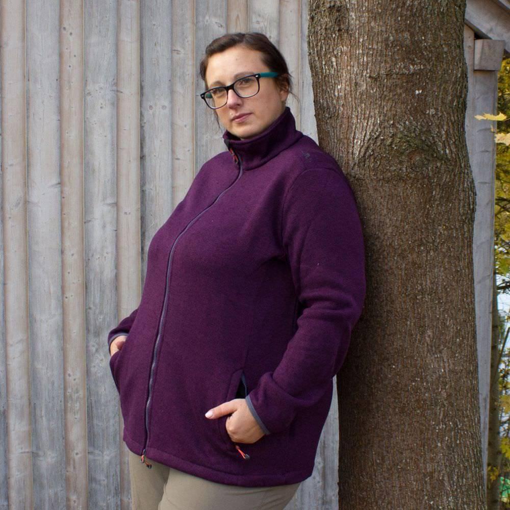 Campagnolo Sara STRICK Fleecejacke Damen Übergröße