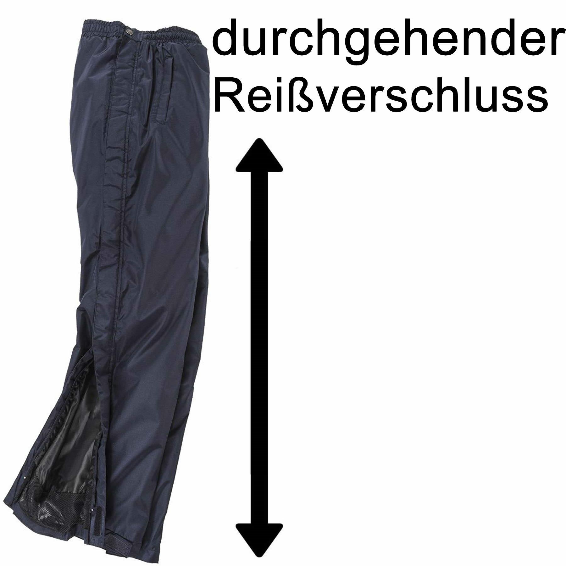 Pack-Away Regenhose durchgehender seitlicher Reißverschluss
