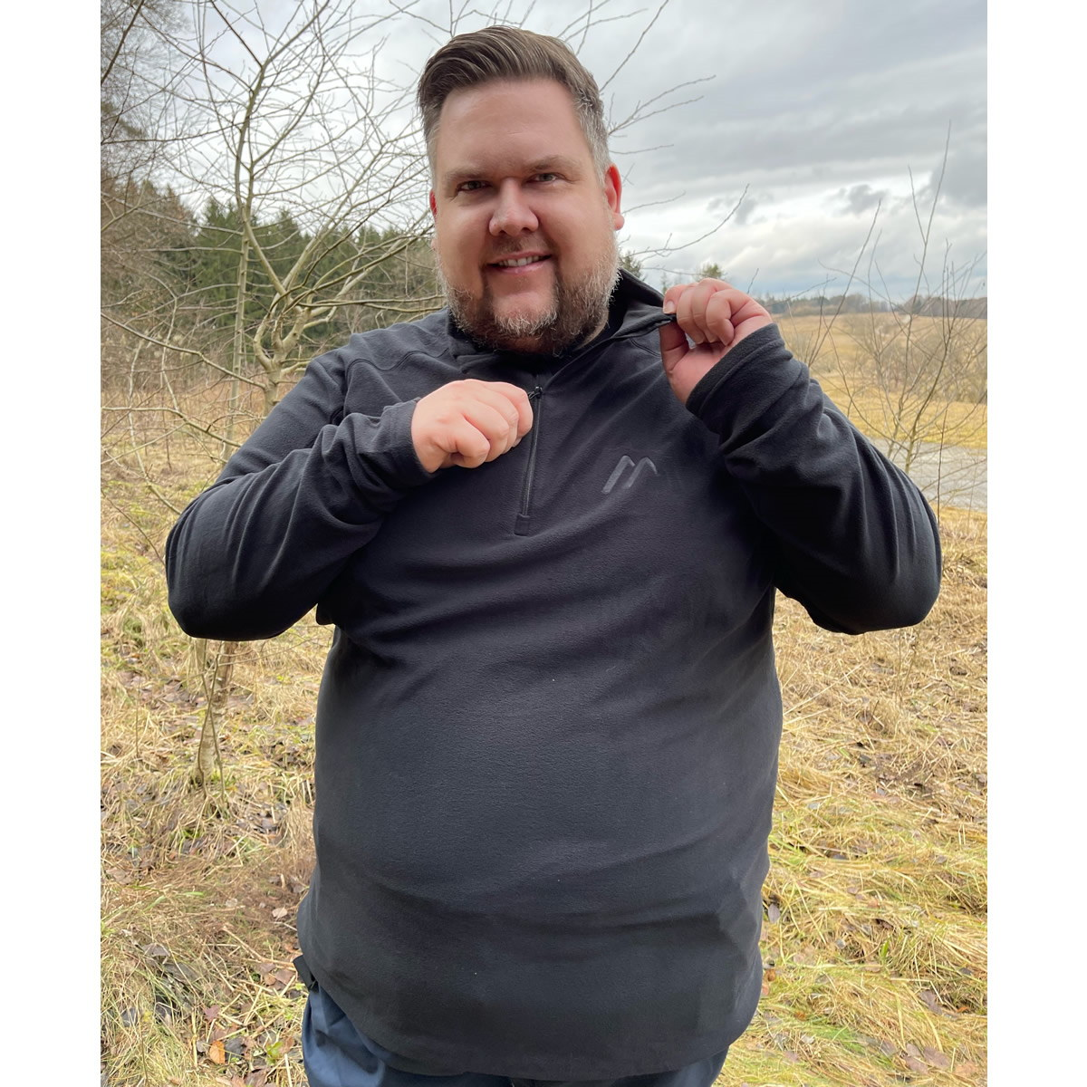 Maier Sports Dennis Fleece-Pullover für Herren in XXL+
