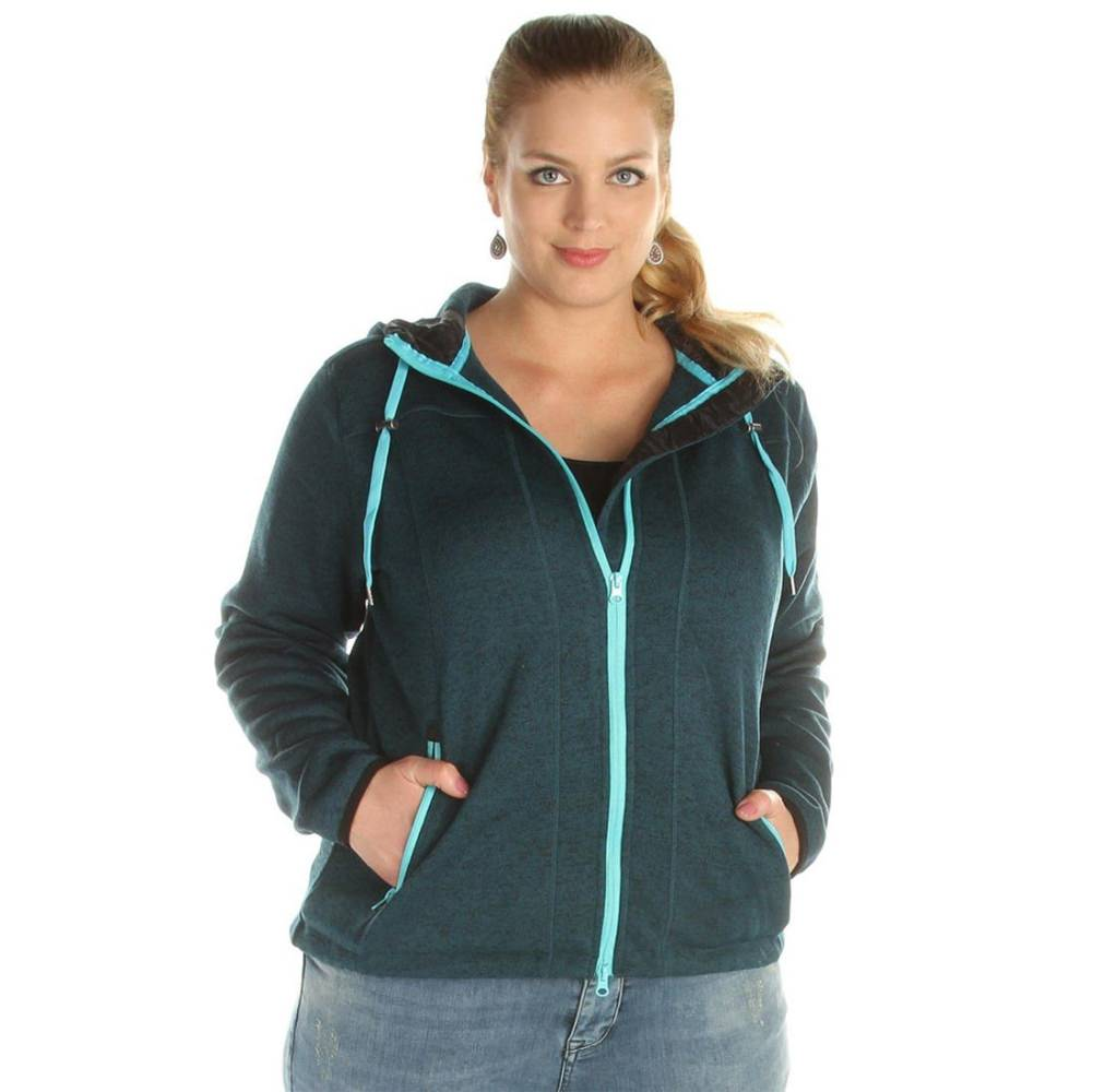 Brigg Gabi Strickfleece Damen   Übergrößen & Langgrößen