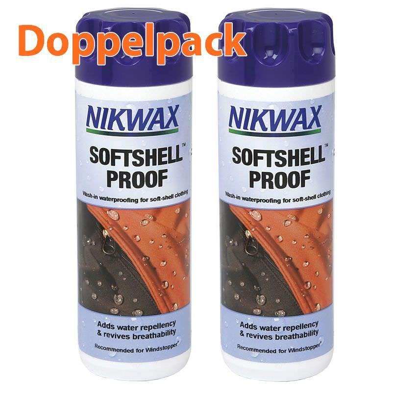 Vaude-Nikwax Doppelpack Softshell Proof