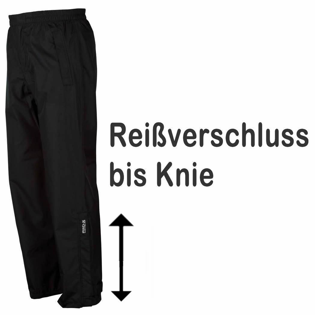 Pro-X Maja Damen Regenhose Überhose Reißverschluss bis Knie