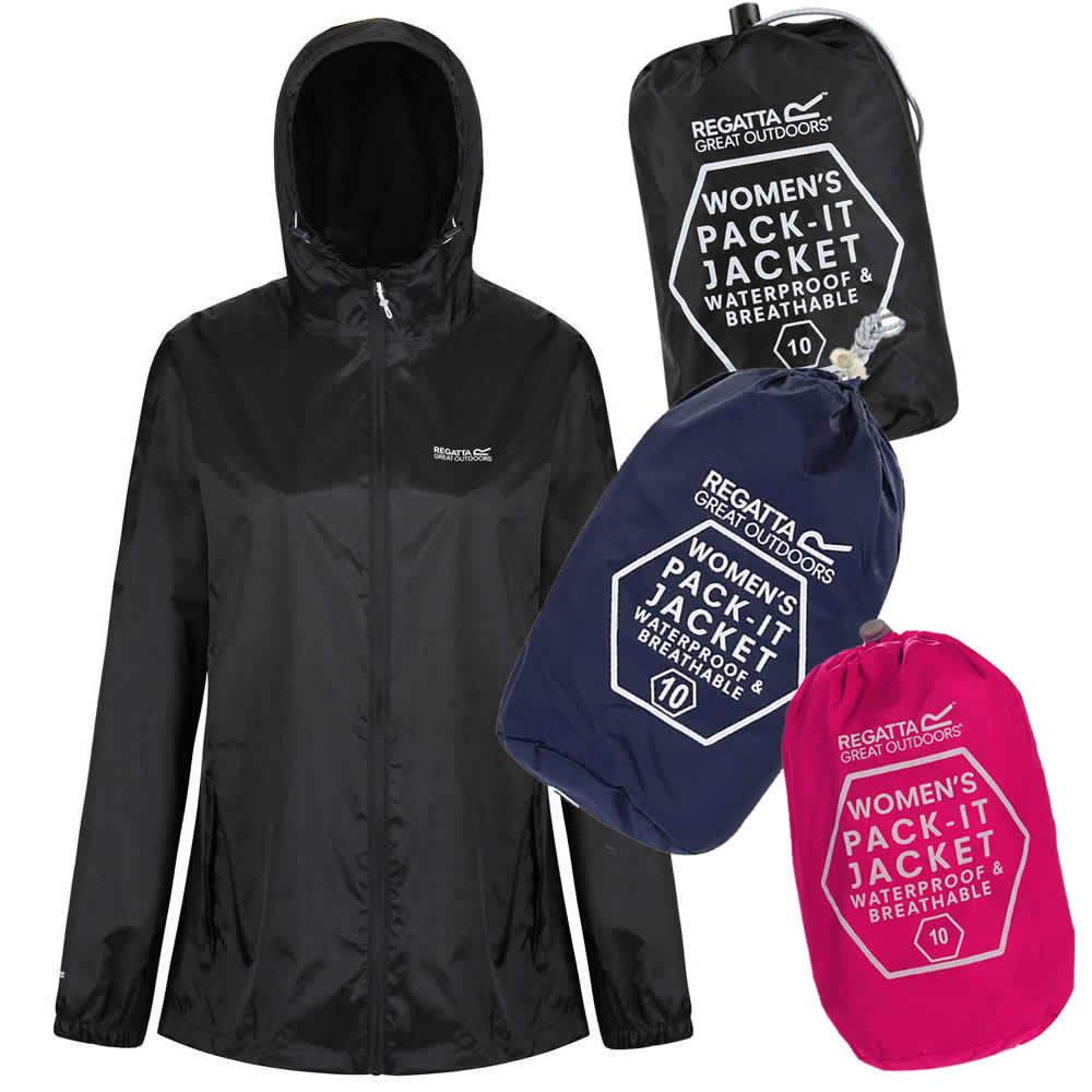 Regatta Pack-It K2 Leichte Dünne Regenjacke Damen