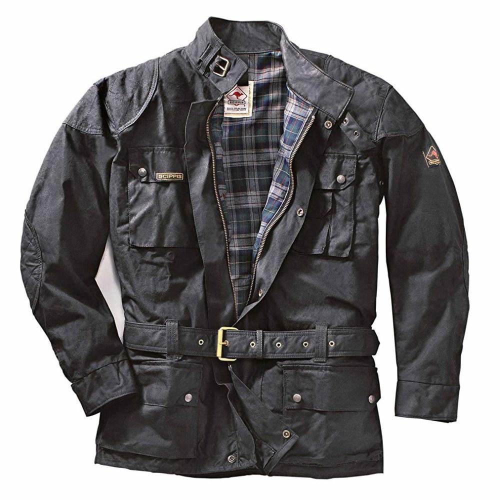 SCIPPIS Cruiser Jacket Biker Motorrad Wachs-Jacke Übergrößen