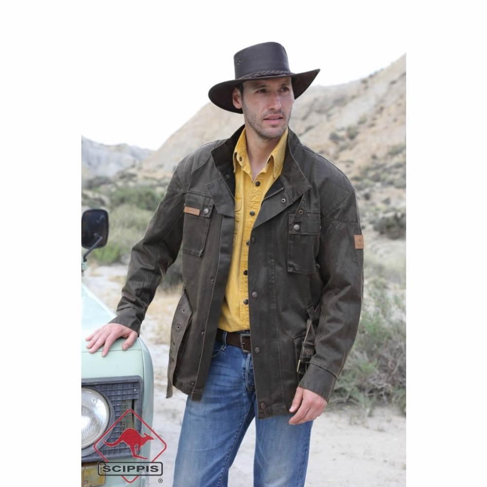 SCIPPIS Bowen Jacket Waxjacke Motorradjacke Übergrößen