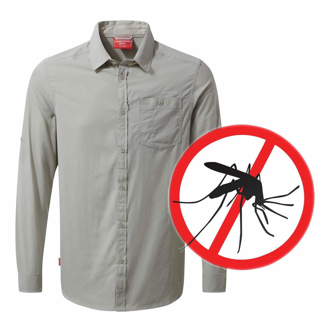 Craghoppers Tatton Herren Langarm Mückenschutz Hemd NOSILIFE