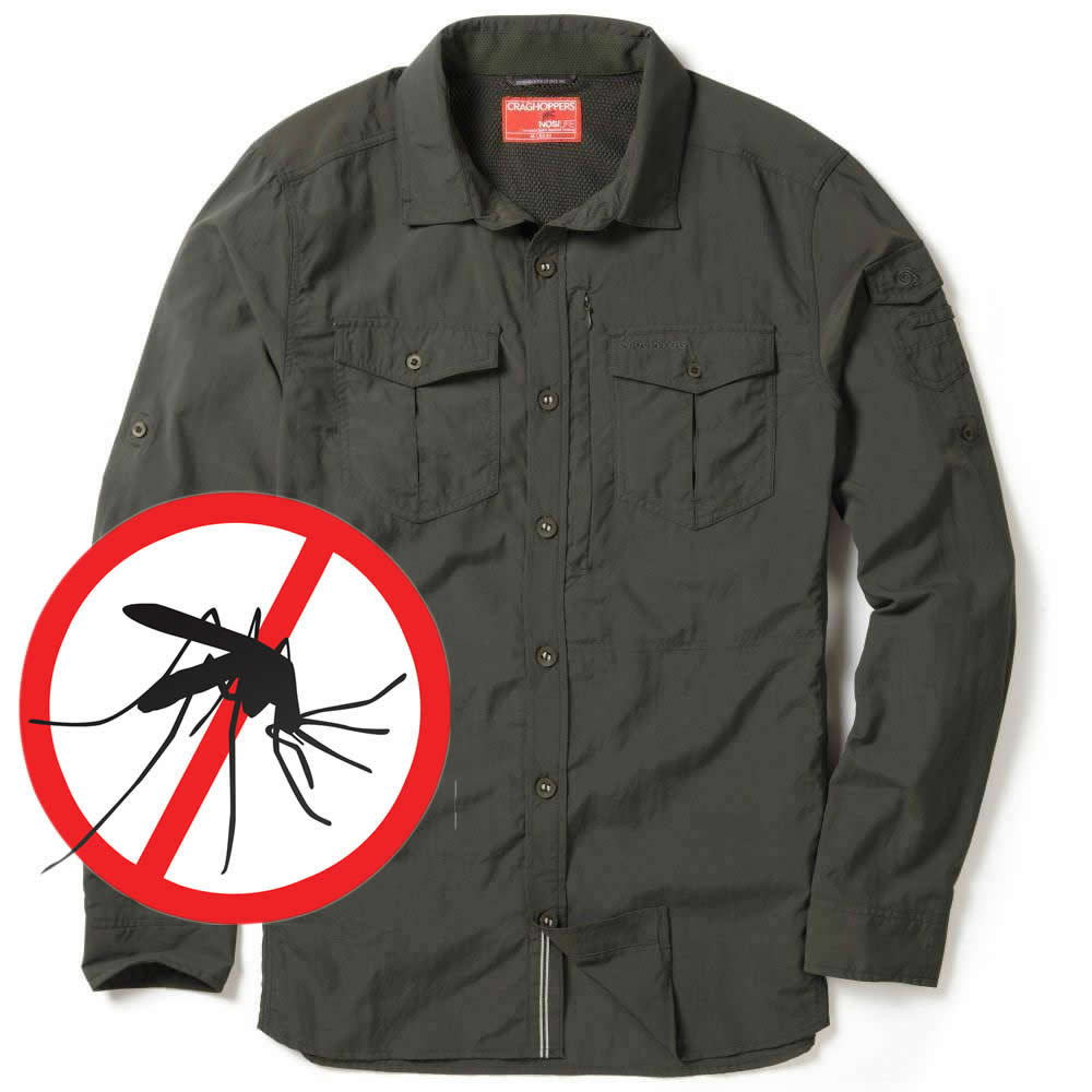 Craghoppers NosiLife Moskito-Insekten Mückenschutz Hemd
